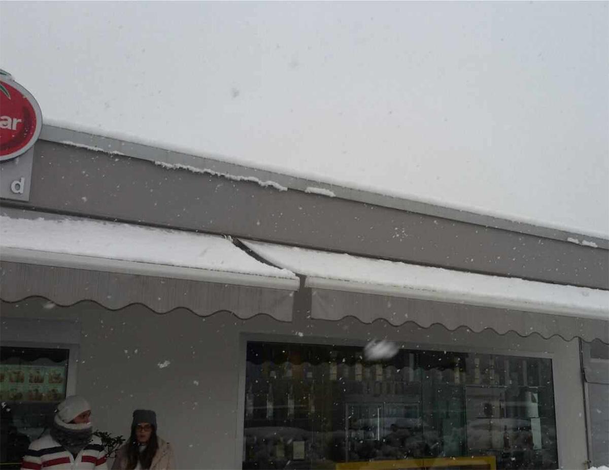 I nostri prodotti sono anche certificati per il carico neve